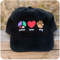 PEACE, LOVE, DOGS Cap